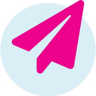 pink paper airplane icon