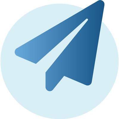 dark blue paper airplane icon
