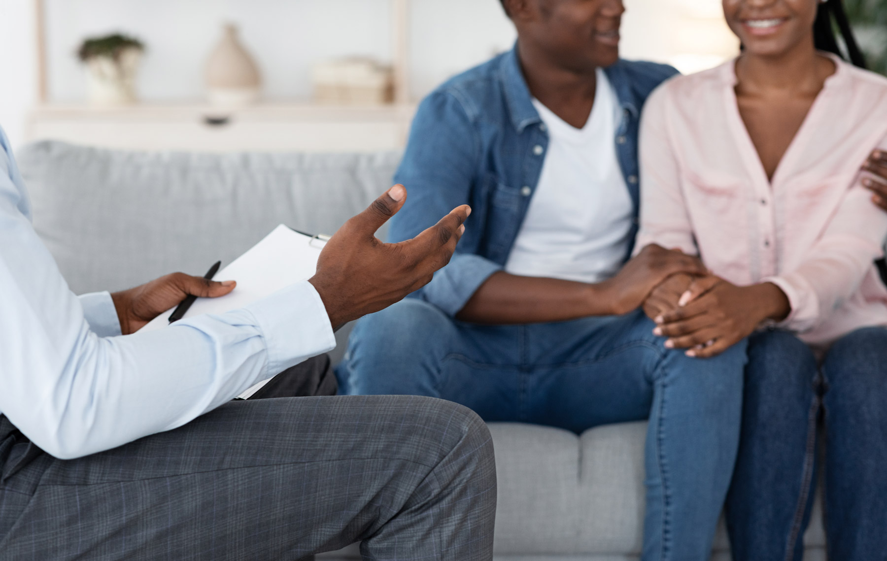a couple at a counseling session